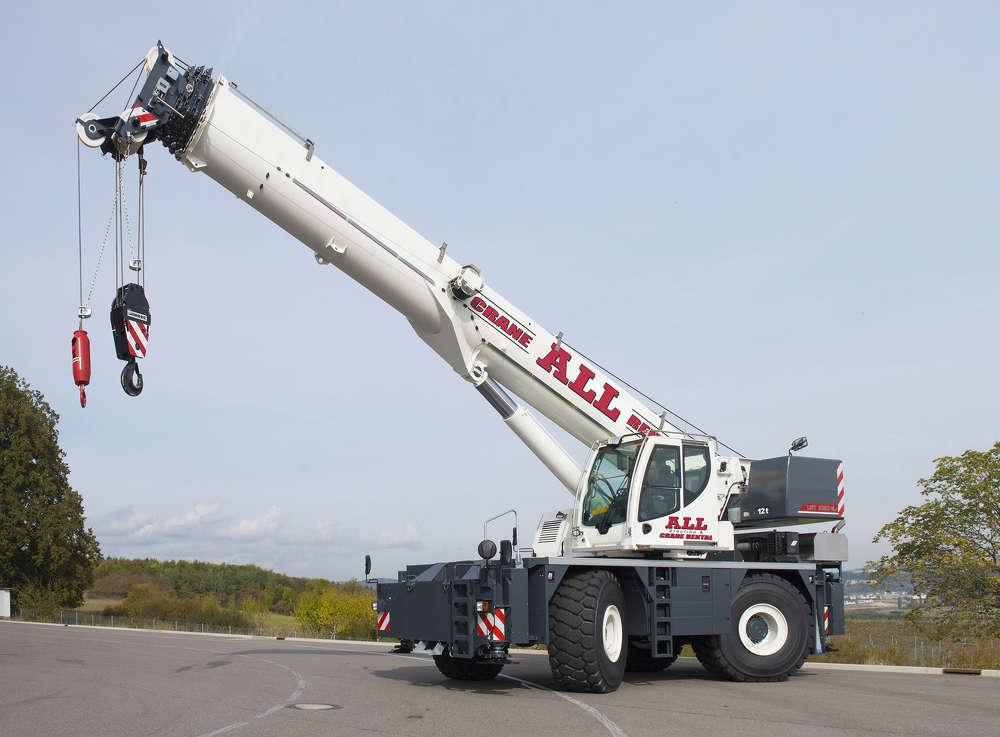 Liebherr rough terrain crane.
